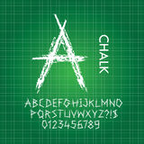Thick Chalk Alphabet and Numbers Vector Royalty Free Stock Image
