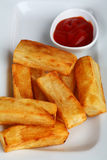 Thick chips Royalty Free Stock Photography
