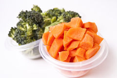 Thick Chunks of Carrots and Broccoli Royalty Free Stock Image