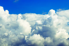 Thick clouds stock image