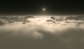 Thick clouds over planet Venus Royalty Free Stock Photos