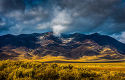 Thick clouds over Ruby Mountains Stock Photos