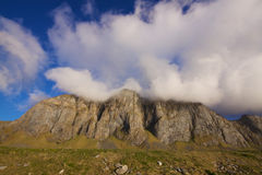 Clouds over cliffs Stock Photography
