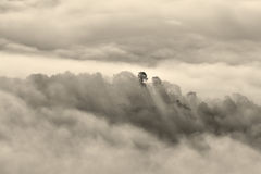 Thick clouds at sunset Royalty Free Stock Photography