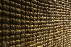Thick coarse linen carpet detail Royalty Free Stock Images
