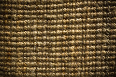 Thick coarse linen carpet detail Royalty Free Stock Image