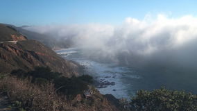 Thick Coastal Fog in Big Sur stock video