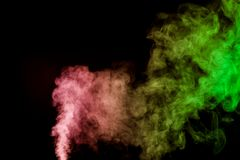 Thick colorful smoke Royalty Free Stock Images