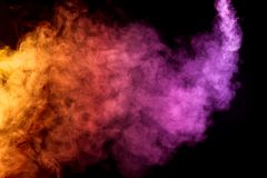 Thick colorful smoke stock photos