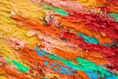 Thick dense layers of paint or color royalty free stock photography