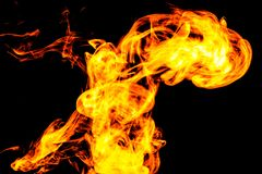 Fire flames background Stock Photography