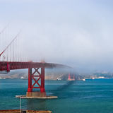 Thick fog covering Golden Gate Bridge Royalty Free Stock Photo