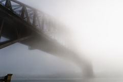Thick fog in the morning at Sydney Harbour Royalty Free Stock Photo
