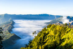 Thick Fog near the Bromo Volcano Royalty Free Stock Images