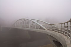 Thick fog over bridge Royalty Free Stock Image