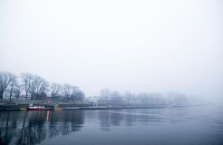 Thick Fog over Water Stock Images
