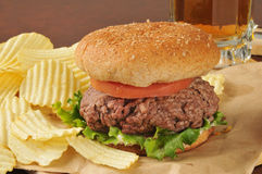 Thick hamburger Royalty Free Stock Images