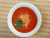 Thick and hearty tomato soup Royalty Free Stock Photos