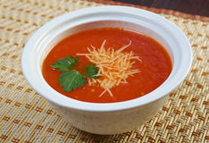 Thick and hearty tomato soup Stock Photos