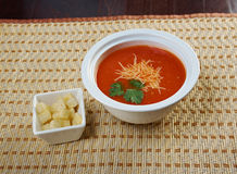 Thick and hearty tomato soup Royalty Free Stock Photo
