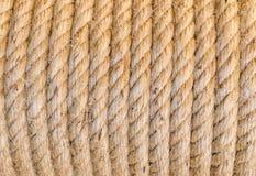 Thick Hemp Rope Folded helix close up background Royalty Free Stock Photo