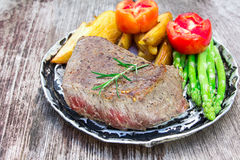 Thick juicy portions of grilled fillet steak Stock Photos