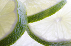 Thick Lime Slices Stock Images