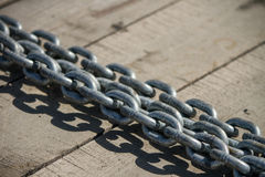 Thick metal chain Royalty Free Stock Photos