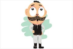 The thick mustache Royalty Free Stock Image