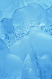 Thick natural clean ice formation detail Royalty Free Stock Photos
