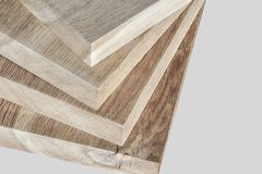 Thick oak boards stock image