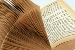 Thick Old Book. Flipping through a thick old book Royalty Free Stock Image