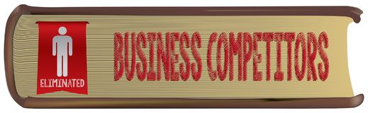 Eliminated business competitor Stock Photography