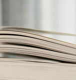 Thick open book sheets Royalty Free Stock Images