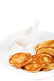 Thick pancake Royalty Free Stock Photo