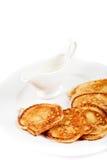 Thick pancake Royalty Free Stock Photo