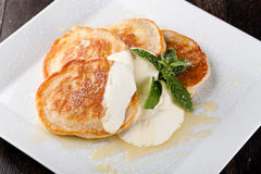 Thick pancake Stock Images