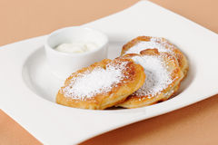 Thick pancake of the cottage cheese Royalty Free Stock Photo