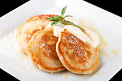 Thick pancake Royalty Free Stock Photography