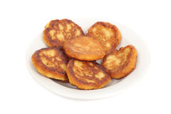 Thick pancakes Royalty Free Stock Photos