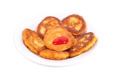 Thick pancakes and jam Stock Photo