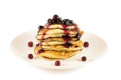 Thick pancakes Royalty Free Stock Photo
