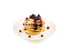 Thick pancakes Royalty Free Stock Images