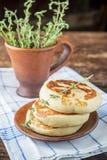 Thick pancakes Stock Photos