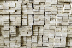 Thick pine wood plank stacking Stock Photography