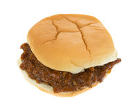 Thick pork in barbecue sauce bun sandwich Royalty Free Stock Photo