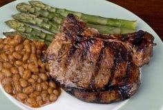 Thick Pork Chops. stock photos