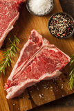 Thick Raw T-Bone Steak Royalty Free Stock Photos