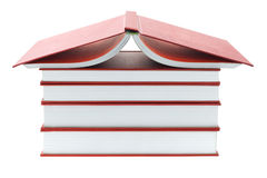 Thick Red Books Stock Photo