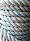 Thick rope. Coiled together tightly royalty free stock photo